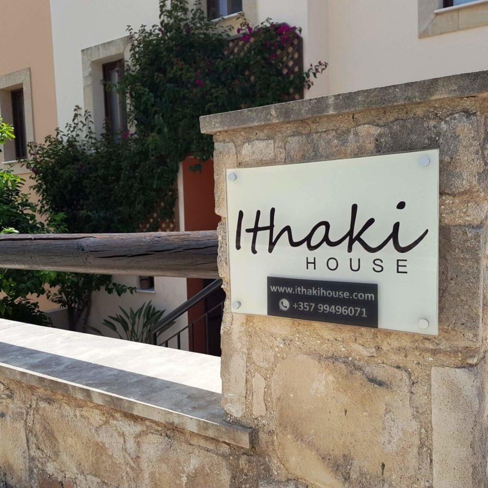 Ithaki House Sign